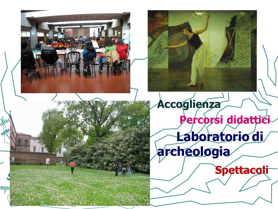 Accoglienza Percorsi didattici Laboratorio di archeologia Spettacoli