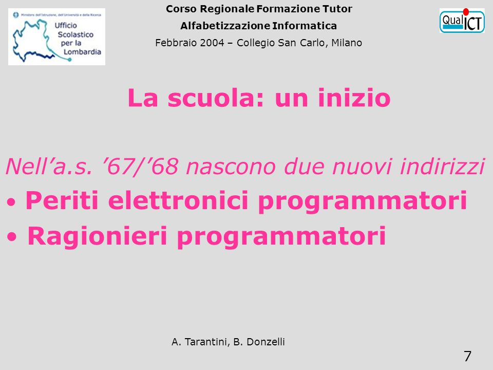 A. Tarantini, B. Donzelli 7 Nella.s.
