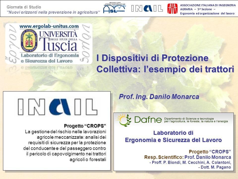 Giornata di Studio Nuovi orizzonti nella prevenzione in agricoltura Agricoltura e lavoro