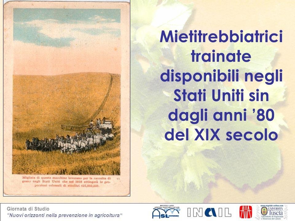 Giornata di Studio Nuovi orizzonti nella prevenzione in agricoltura A.