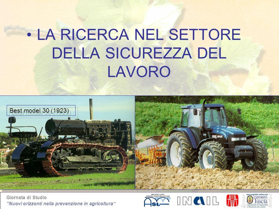 Giornata di Studio Nuovi orizzonti nella prevenzione in agricoltura LA RICERCA NEL SETTORE DELLA SICUREZZA DEL LAVORO Best model 30 (1923)