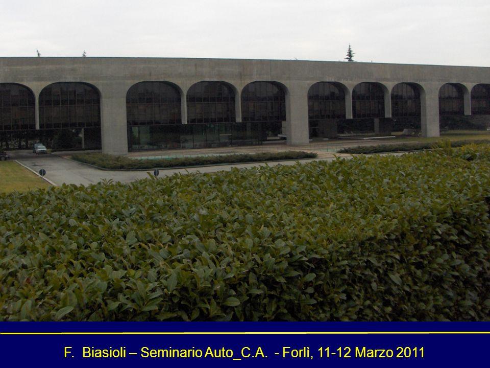 F. Biasioli – Seminario Auto_C.A. - Forlì, 11-12 Marzo 2011 Conceptual Design delle strutture di un edificio in c.a.