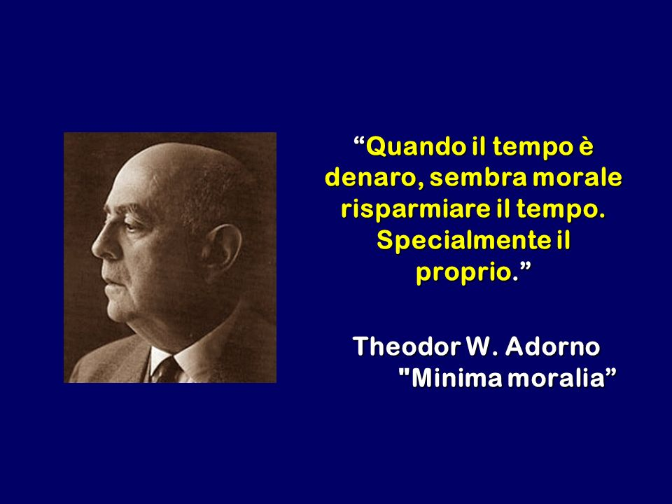 Quando il tempo è denaro, sembra morale risparmiare il tempo. Specialmente il proprio.Quando il tempo è denaro, sembra morale risparmiare il tempo. Sp