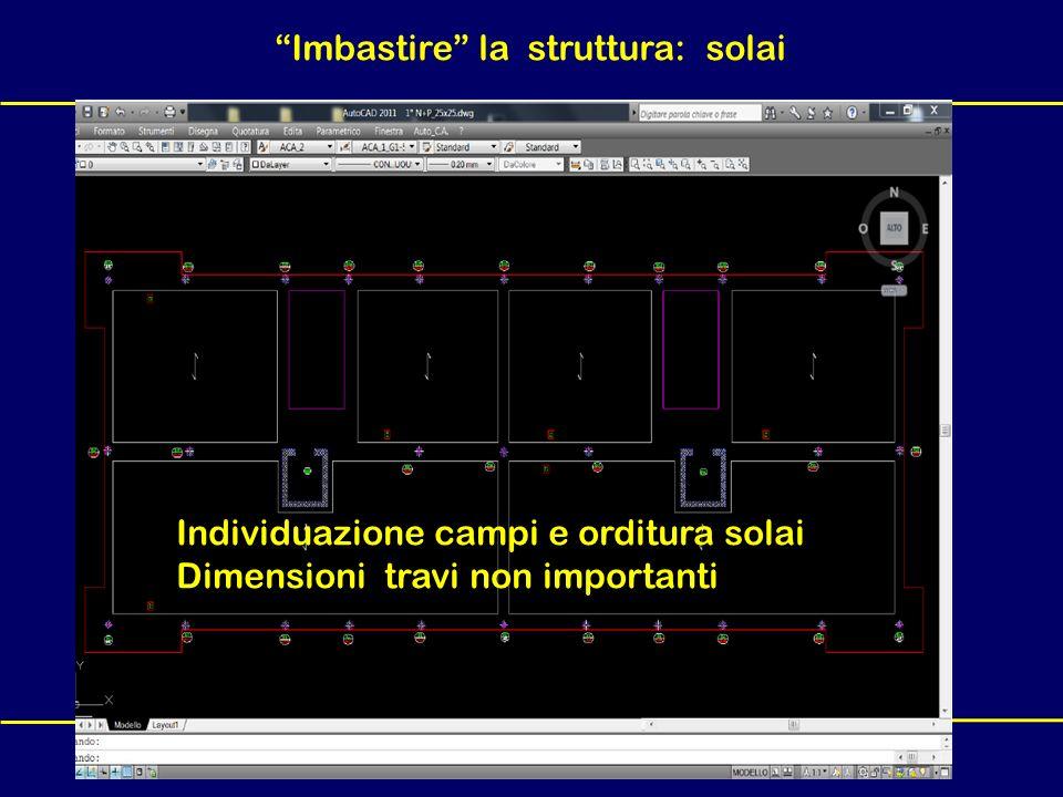 F. Biasioli – Seminario Auto_C.A. - Forlì, 11-12 Marzo 2011 Imbastire la struttura: solai Individuazione campi e orditura solai Dimensioni travi non i