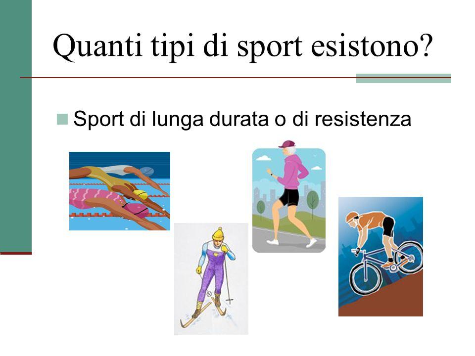 Quanti tipi di sport esistono? Sport di lunga durata o di resistenza