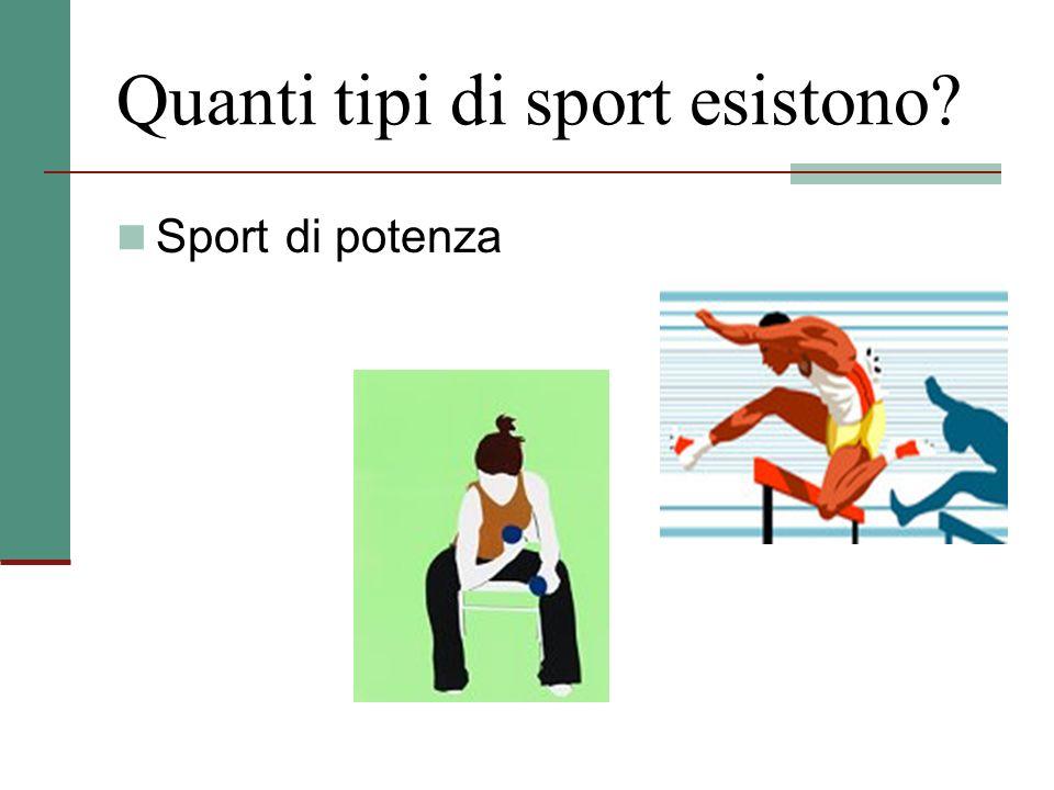Quanti tipi di sport esistono? Sport di potenza