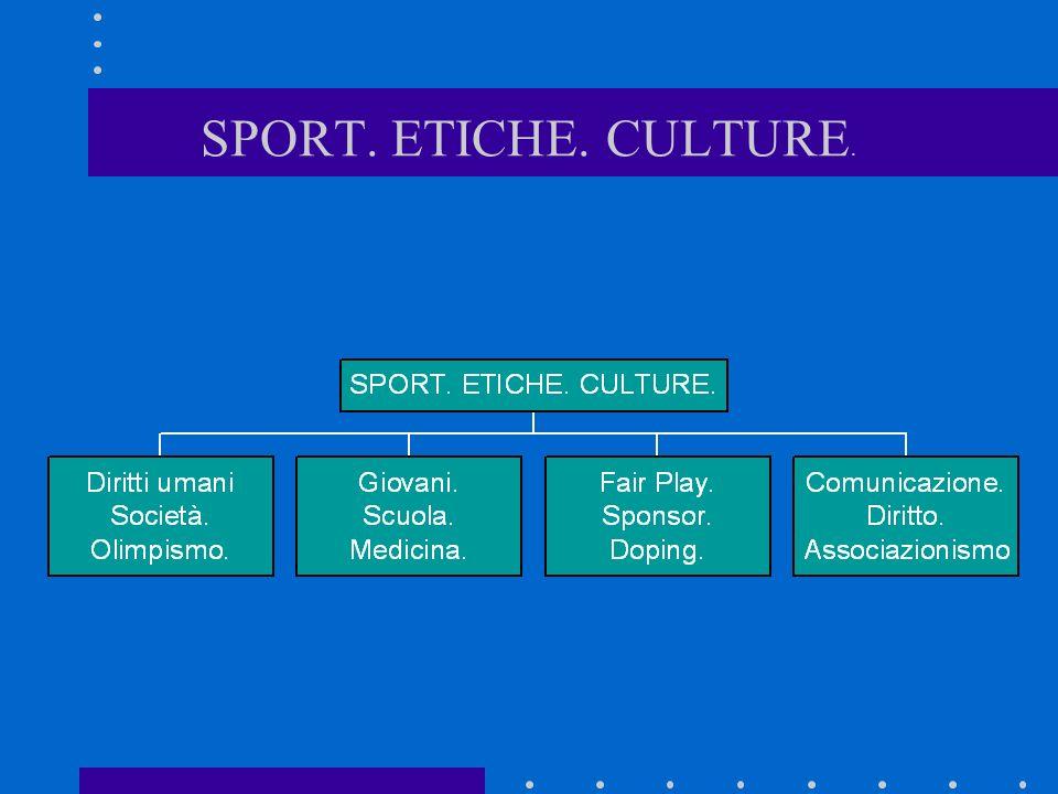 Lanalisi di alcuni aspetti peculiari dello sport contemporaneo è basilare per poter immaginare degli scenari futuri frutto di vera cultura sportiva ed espressione di vera etica sportiva.