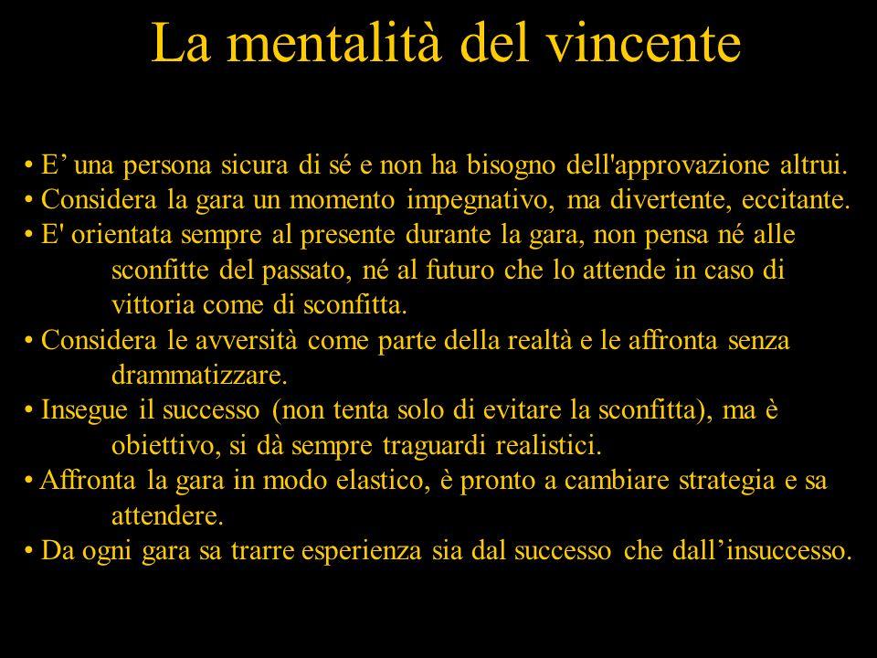 La mentalità del vincente E una persona sicura di sé e non ha bisogno dell approvazione altrui.