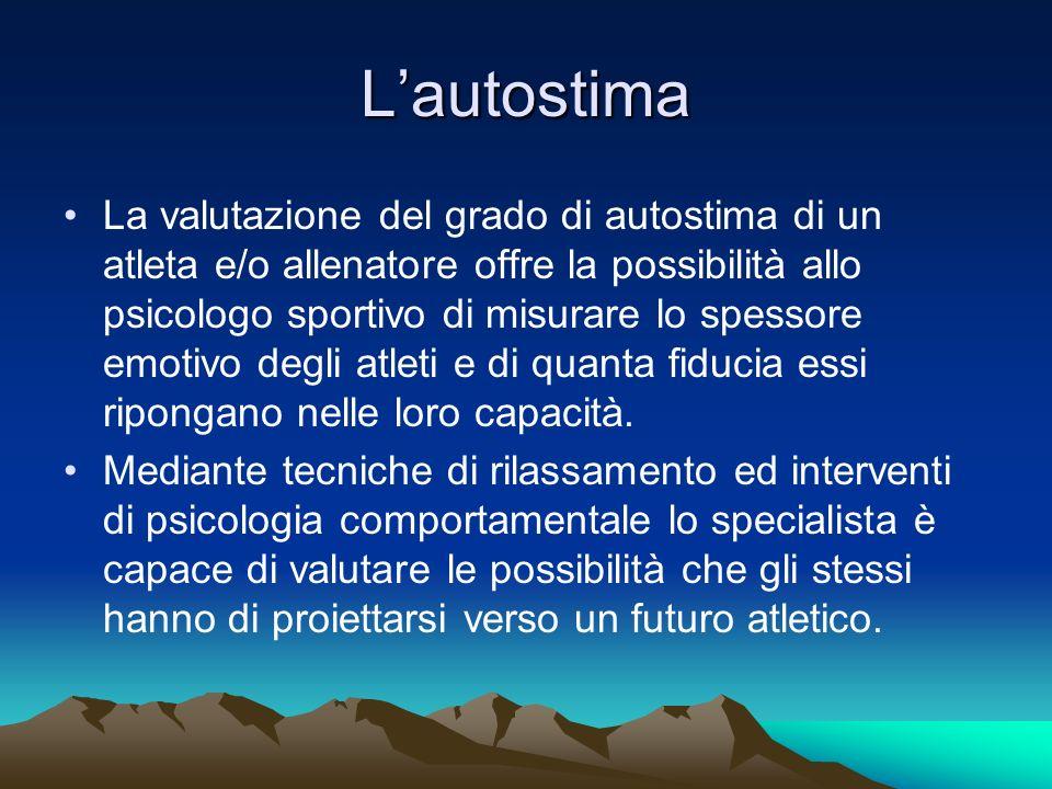 La gestione dellansia Lansia pre-agonistica è legata allimminenza di una competizione particolarmente impegnativa e temuta.