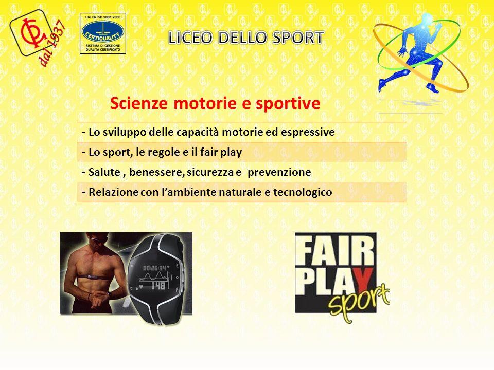 Scienze motorie e sportive - Lo sviluppo delle capacità motorie ed espressive - Lo sport, le regole e il fair play - Salute, benessere, sicurezza e prevenzione - Relazione con lambiente naturale e tecnologico