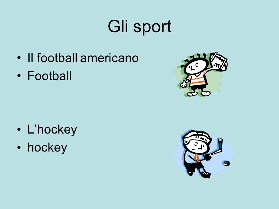 Gli sport Il football americano Football Lhockey hockey