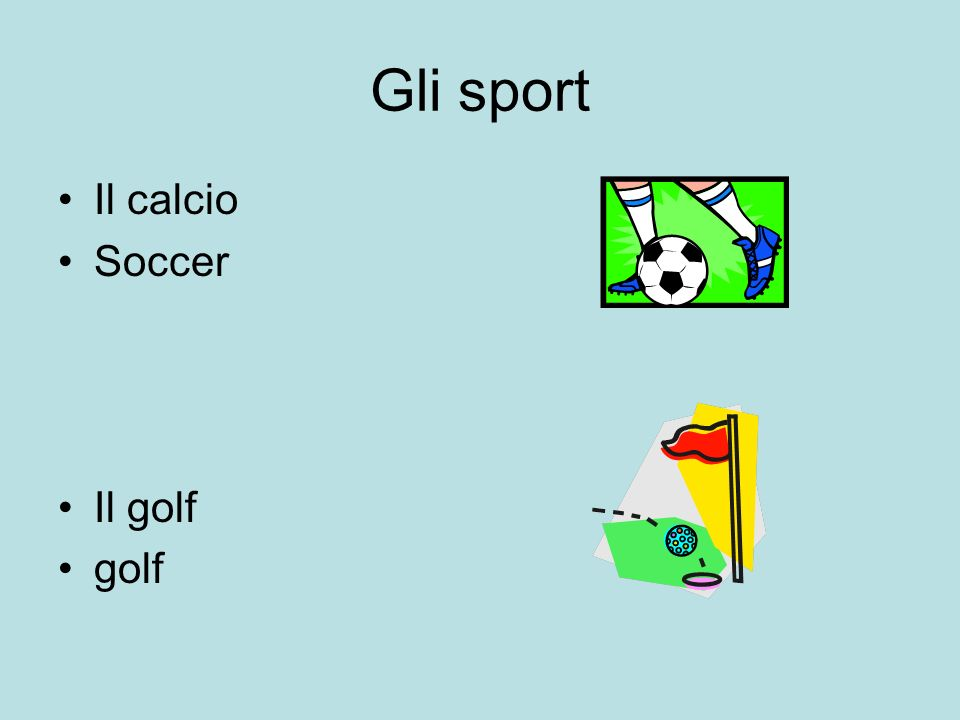 Gli sport Il calcio Soccer Il golf golf