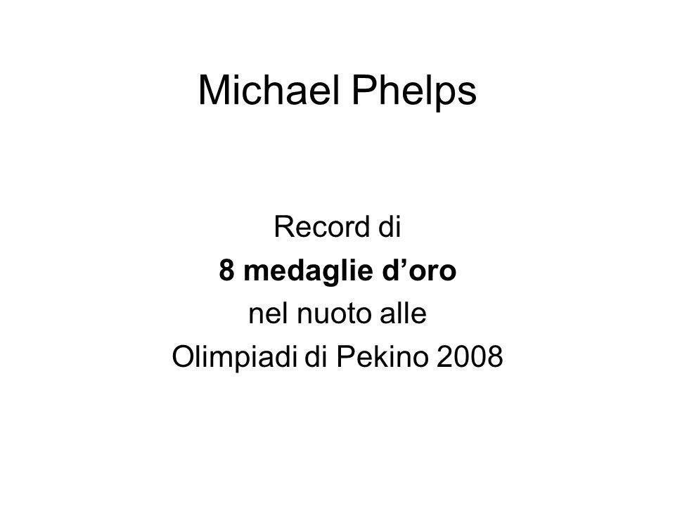 Michael Phelps Record di 8 medaglie doro nel nuoto alle Olimpiadi di Pekino 2008