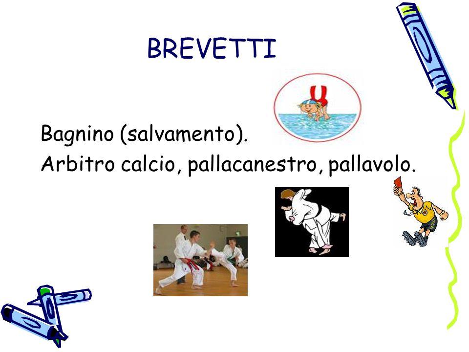 BREVETTI Bagnino (salvamento). Arbitro calcio, pallacanestro, pallavolo.