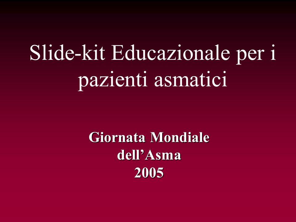 Slide-kit Educazionale per i pazienti asmatici Giornata Mondiale dellAsma2005