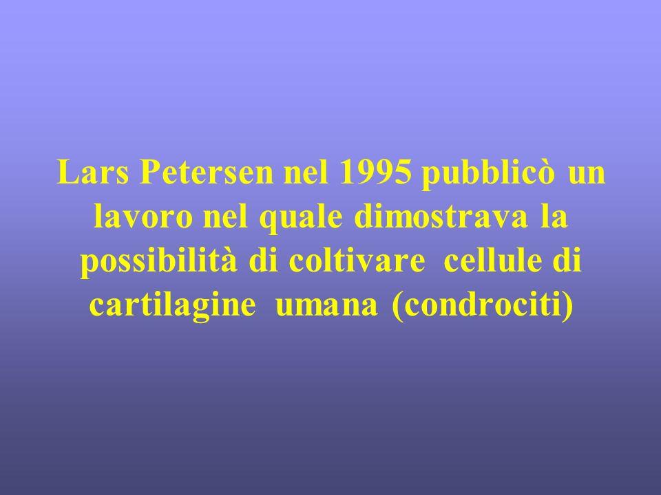 Lars Petersen nel 1995 pubblicò un lavoro nel quale dimostrava la possibilità di coltivare cellule di cartilagine umana (condrociti)
