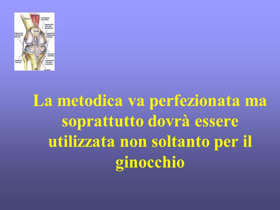 La metodica va perfezionata ma soprattutto dovrà essere utilizzata non soltanto per il ginocchio