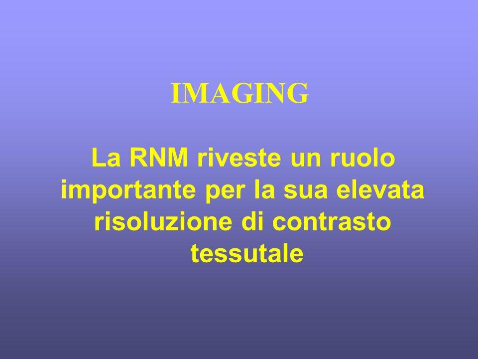 IMAGING La RNM riveste un ruolo importante per la sua elevata risoluzione di contrasto tessutale