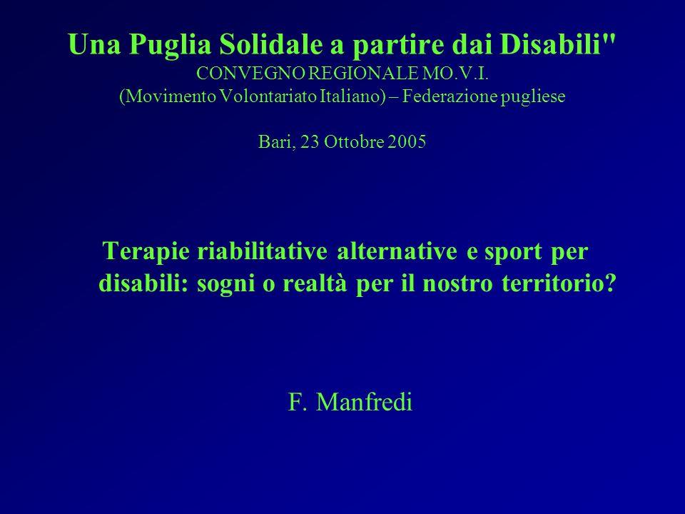 Una Puglia Solidale a partire dai Disabili CONVEGNO REGIONALE MO.V.I.