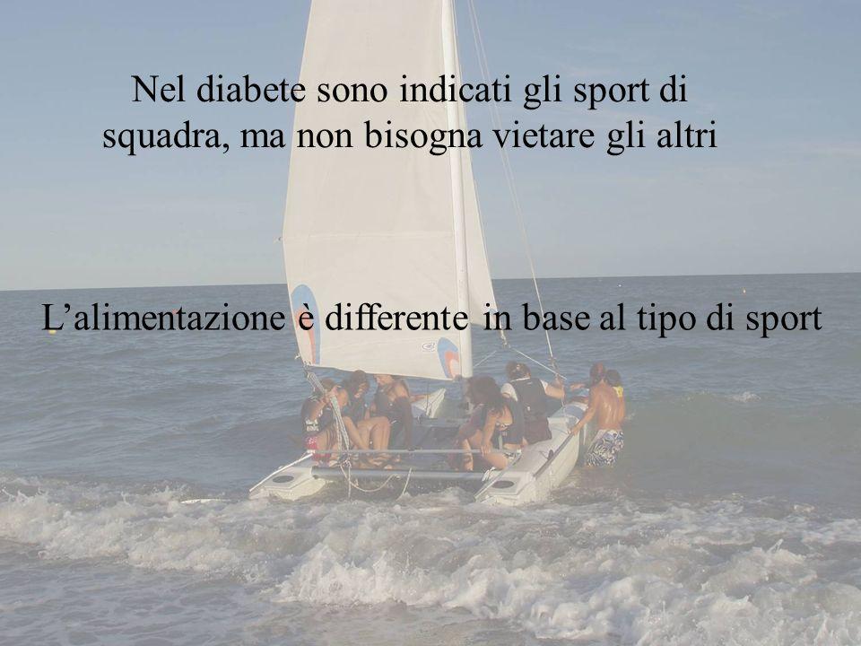 Nel diabete sono indicati gli sport di squadra, ma non bisogna vietare gli altri Lalimentazione è differente in base al tipo di sport