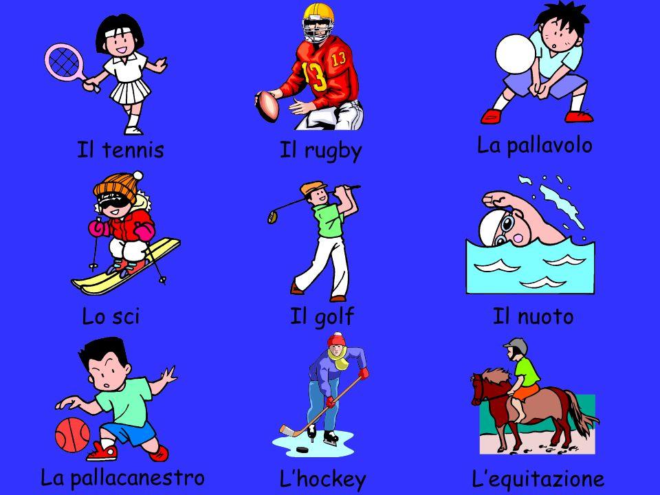 La pallavolo o il rugby.Il tennis o il nuoto. La pallacanestro o il rugby.