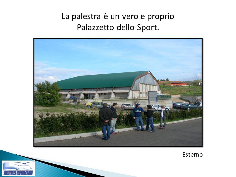 La palestra è un vero e proprio Palazzetto dello Sport. Esterno