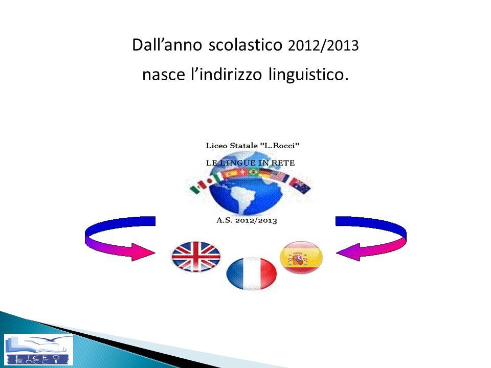 Dallanno scolastico 2012/2013 nasce lindirizzo linguistico.
