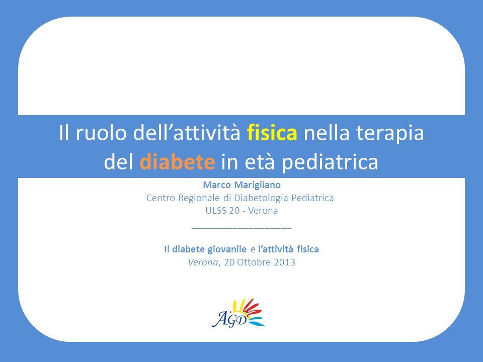 Il ruolo dellattività fisica nella terapia del diabete in età pediatrica Marco Marigliano Centro Regionale di Diabetologia Pediatrica ULSS 20 - Verona