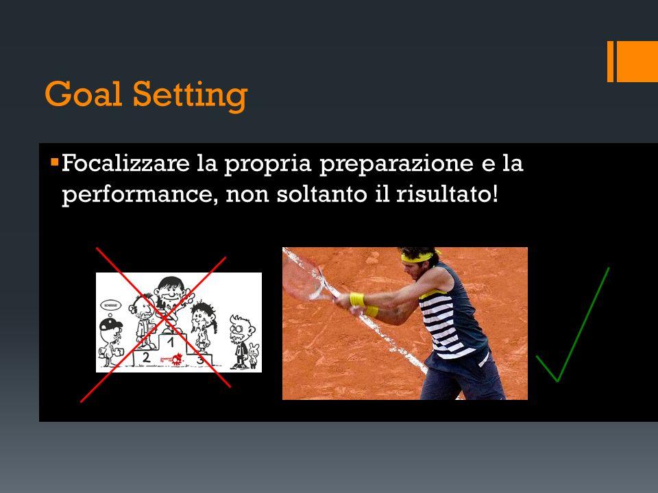 Goal Setting Focalizzare la propria preparazione e la performance, non soltanto il risultato!