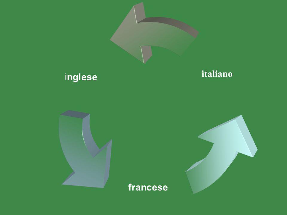 inglese italiano francese
