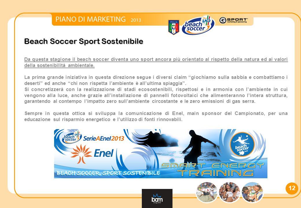 Beach Soccer Sport Sostenibile Da questa stagione il beach soccer diventa uno sport ancora più orientato al rispetto della natura ed ai valori della sostenibilità ambientale.