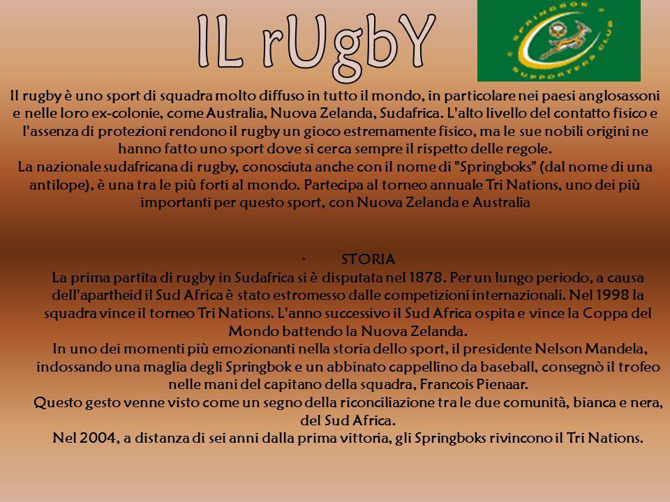 Il rugby è uno sport di squadra molto diffuso in tutto il mondo, in particolare nei paesi anglosassoni e nelle loro ex-colonie, come Australia, Nuova