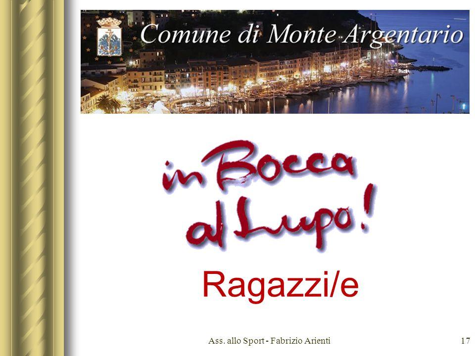 u Ass. allo Sport - Fabrizio Arienti17 Ragazzi/e