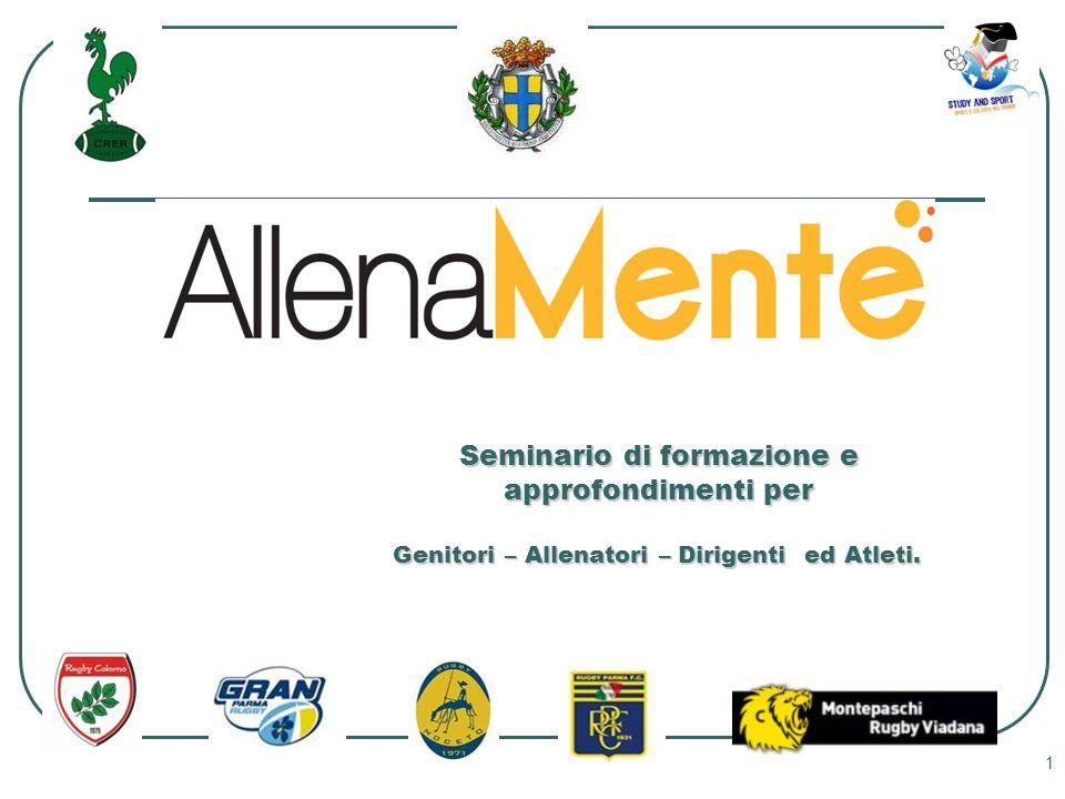 1 Seminario di formazione e approfondimenti per Genitori – Allenatori – Dirigenti ed Atleti.