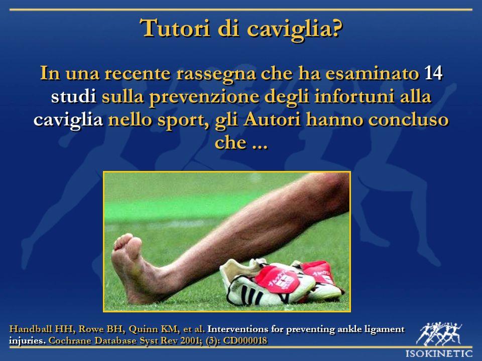 In una recente rassegna che ha esaminato 14 studi sulla prevenzione degli infortuni alla caviglia nello sport, gli Autori hanno concluso che... Handba