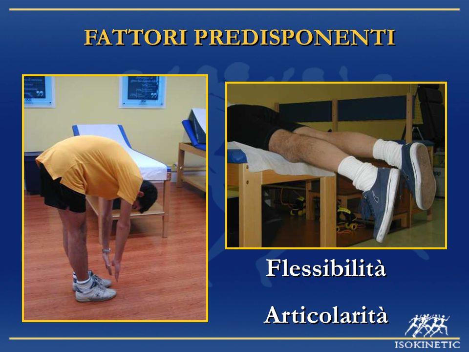 FATTORI PREDISPONENTI Flessibilità Articolarità Flessibilità Articolarità