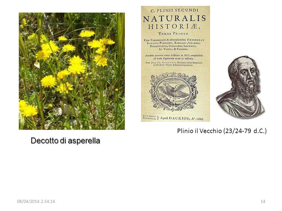 Plinio il Vecchio (23/24-79 d.C.) Decotto di asperella 08/04/2014 2.56.0014