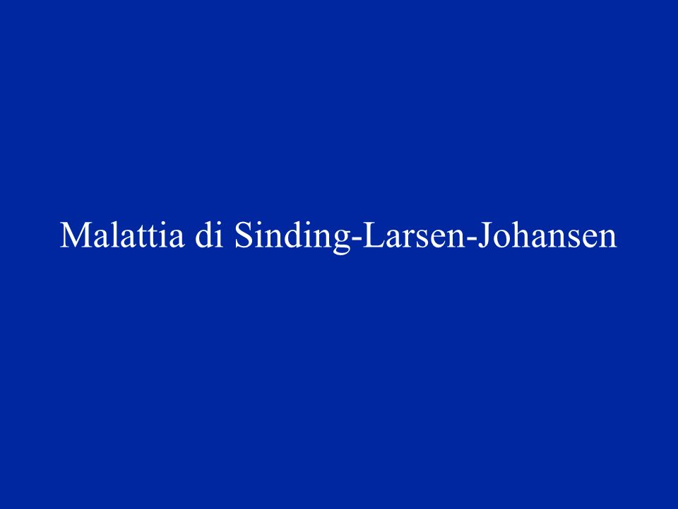 Malattia di Sinding-Larsen-Johansen
