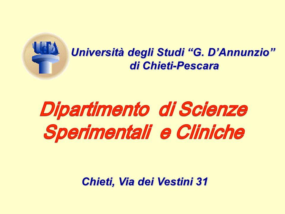 Università degli Studi G. DAnnunzio di Chieti-Pescara Chieti, Via dei Vestini 31