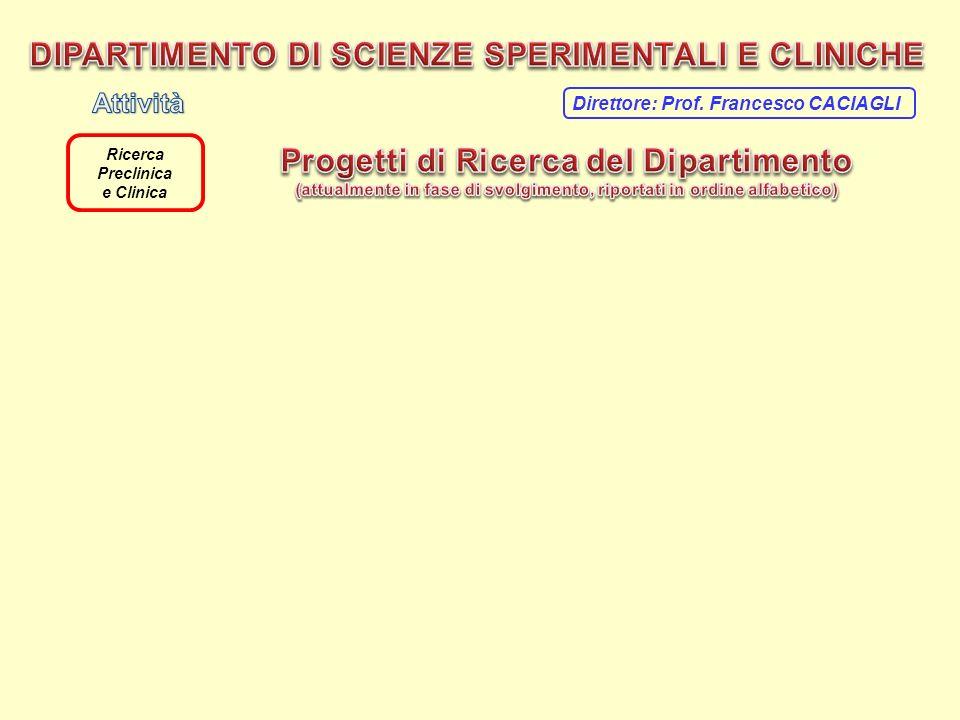 Ricerca Preclinica e Clinica Direttore: Prof. Francesco CACIAGLI