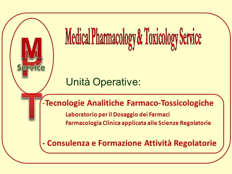 -Tecnologie Analitiche Farmaco-Tossicologiche Laboratorio per il Dosaggio dei Farmaci Farmacologia Clinica applicata alle Scienze Regolatorie - Consul