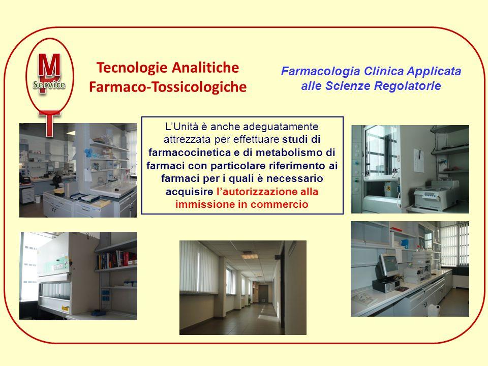 LUnità è anche adeguatamente attrezzata per effettuare studi di farmacocinetica e di metabolismo di farmaci con particolare riferimento ai farmaci per