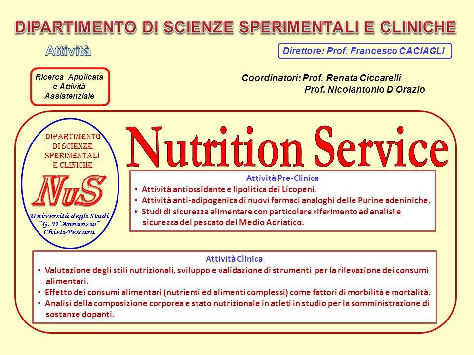 Università degli Studi G. DAnnunzio Chieti-Pescara Dipartimento Di scienze Sperimentali E cliniche Attività Pre-Clinica Attività antiossidante e lipol