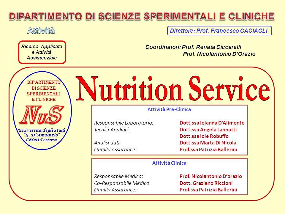 Università degli Studi G. DAnnunzio Chieti-Pescara Dipartimento Di scienze Sperimentali E cliniche Attività Pre-Clinica Responsabile Laboratorio: Dott
