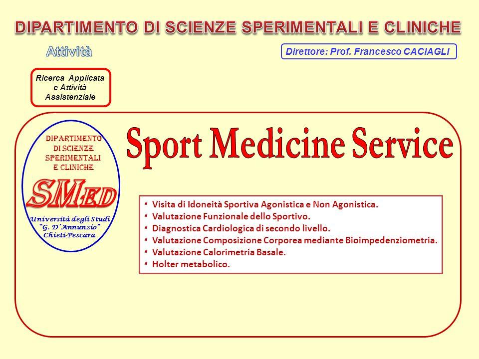 Visita di Idoneità Sportiva Agonistica e Non Agonistica. Valutazione Funzionale dello Sportivo. Diagnostica Cardiologica di secondo livello. Valutazio