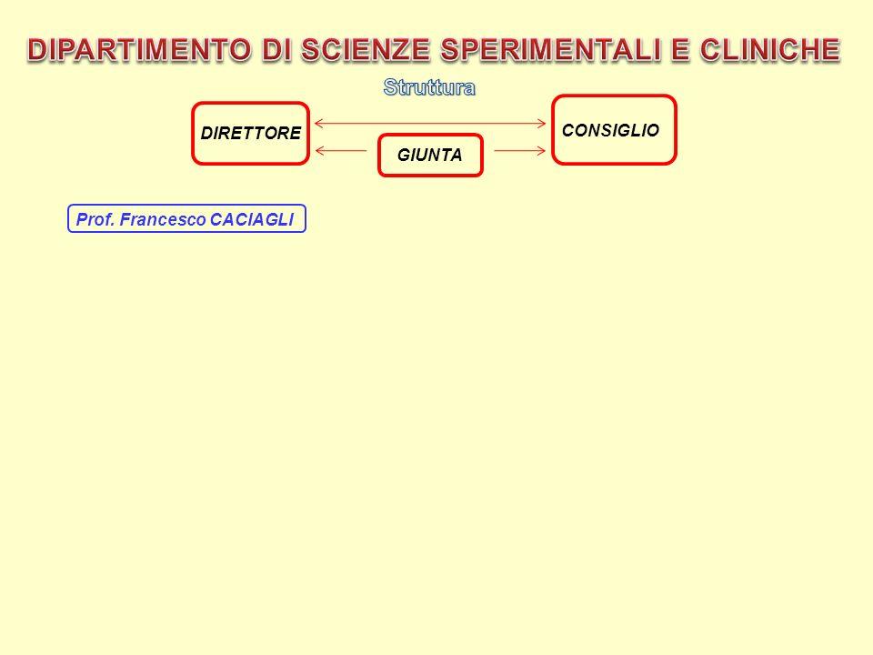 Prof. Francesco CACIAGLI GIUNTA CONSIGLIO DIRETTORE
