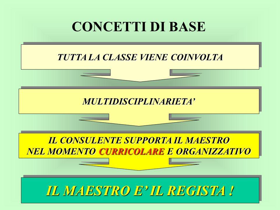 I CONSULENTI a.s.2002/03 * 1 Provinciale + 7 Consulenti Territoriali a.s.