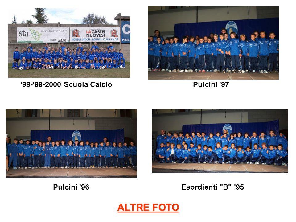 '98-'99-2000 Scuola Calcio Pulcini '97 Pulcini '96Esordienti