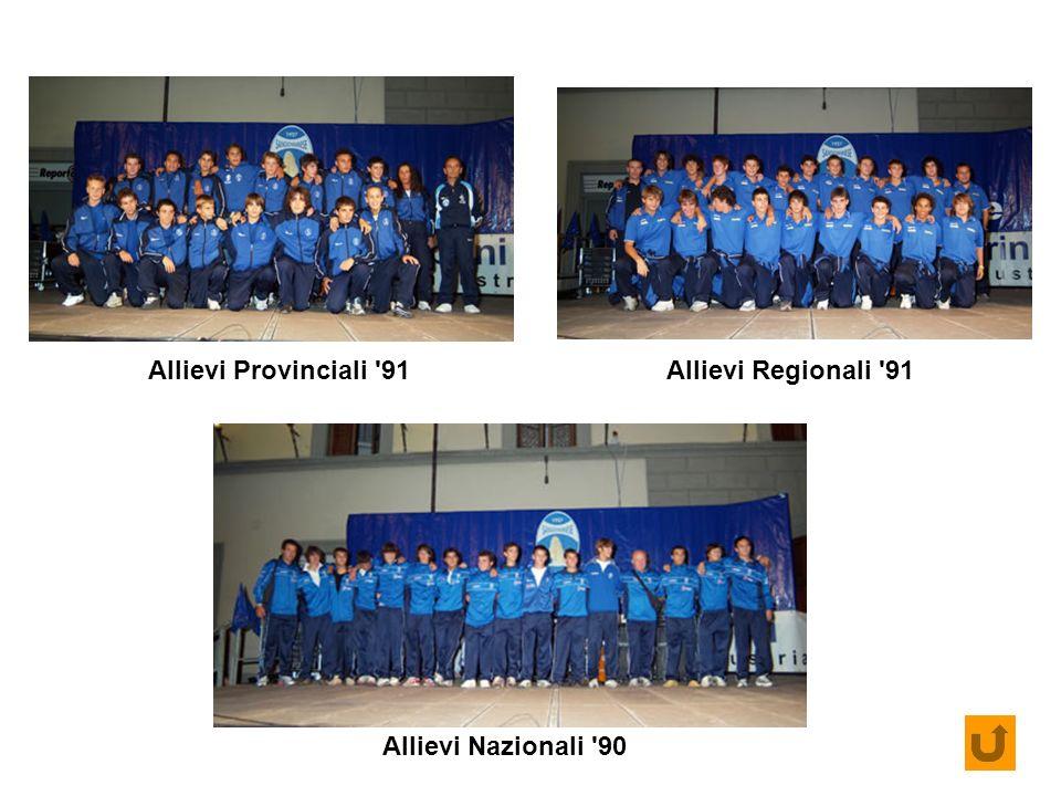 Allievi Provinciali '91Allievi Regionali '91 Allievi Nazionali '90