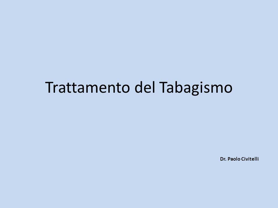 Trattamento del Tabagismo Dr. Paolo Civitelli